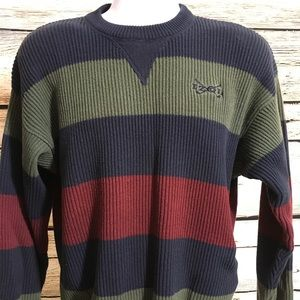 IZOD Mens Large Sweater Vintage Long Sleeve F1